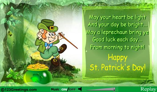 Leprechaun Wishes Good Luck